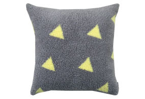 TRIANGLE CUSHION YELLOW