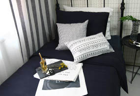 NAVY BASIC BEDDING SET